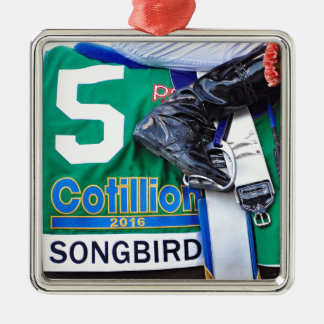 Songbird- Cotillion 16' Silver-Colored Square Ornament