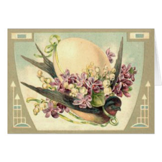 Songbird Easter Egg Crocus Lily Of The Valley Card