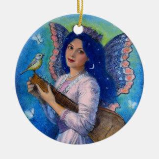 Songbird for a Blue Angel Christmas Ornament