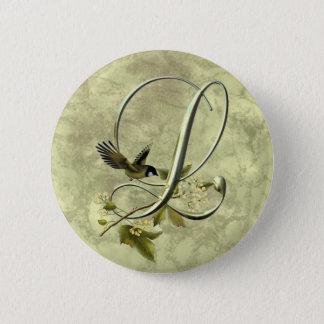 Songbird Initial L 2 Inch Round Button