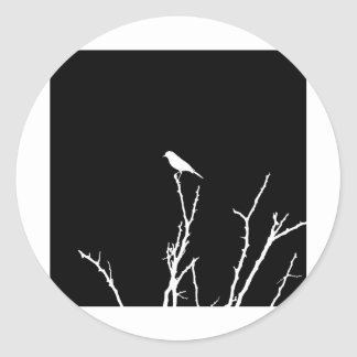 Songbird Night Classic Round Sticker