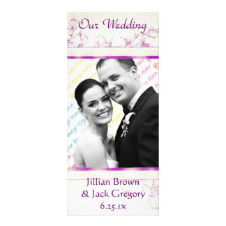 Songbird Shabby Chic WEDDING Program