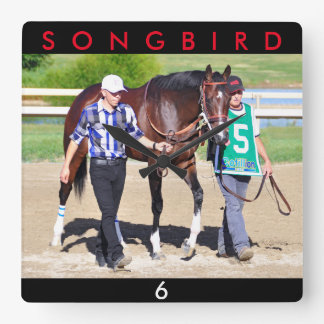 Songbird- Undefeated Square Wall Clock