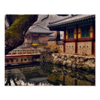 Songgwangsa Temple, South Korea, 11x14 Poster