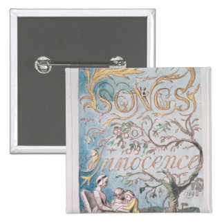 Songs of Innocence; Title Page, 1789 2 Inch Square Button