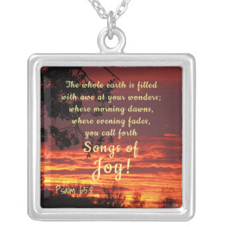 Songs of Joy Bible Verse Necklace