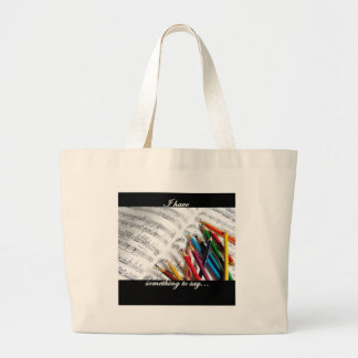 Songwriter - I have something to say Large Tote Bag