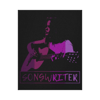 Songwriter In Purples Canvas Print