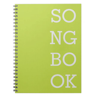 Songwriter's Notebook - Green