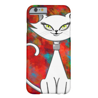 Sonia the green eyes bling cat. Artsy background Barely There iPhone 6 Case