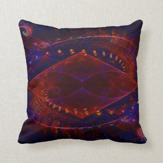 Sonic Fractal Flame Abstract Throw Pillow