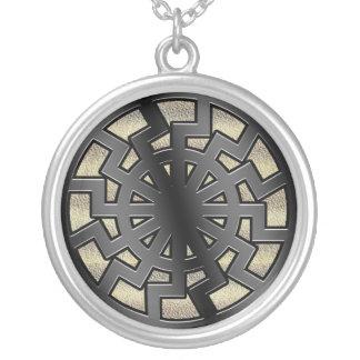 sonnenrad(sun wheel) round pendant necklace