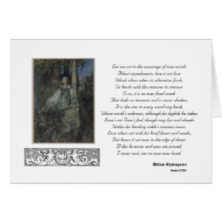 Sonnet 116 Greeting Card