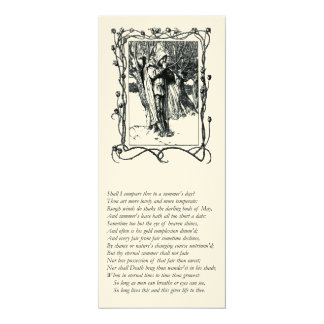 Sonnet # 18 by William Shakespeare 4x9.25 Paper Invitation Card