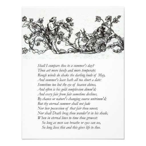 Sonnet # 18 by William Shakespeare Custom Announcements
