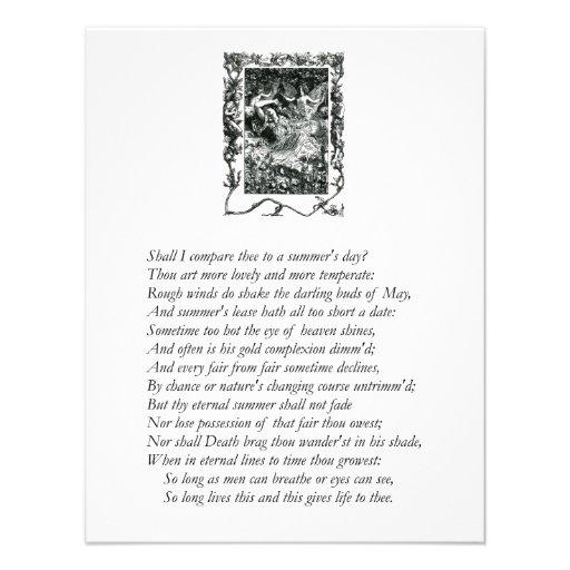 Sonnet # 18 by William Shakespeare Invite
