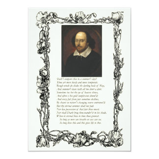 Sonnet # 18 by William Shakespeare Invitation