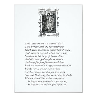 Sonnet # 18 by William Shakespeare Personalized Invite