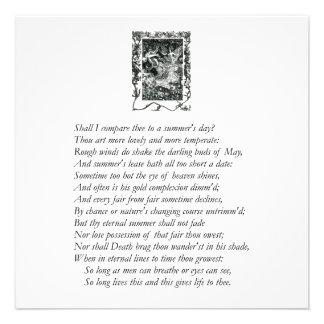 Sonnet # 18 by William Shakespeare Custom Invite