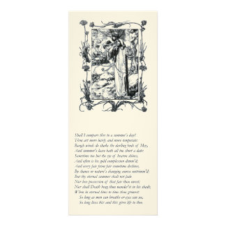 Sonnet # 18 by William Shakespeare Personalized Invitation