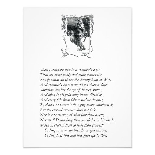 Sonnet # 18 by William Shakespeare Personalized Invites