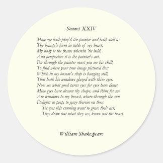 Sonnet # 24 by William Shakespeare Sticker