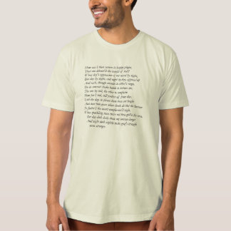 Sonnet # 28 by William Shakespeare T-Shirt