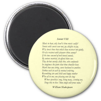 Sonnet # 8 by William Shakespeare Magnet