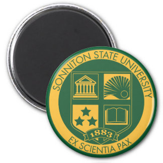 Sonniton State University Seal - Color 2 Inch Round Magnet