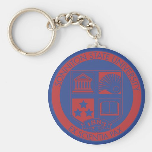 Sonniton State University Seal - Color Key Chains