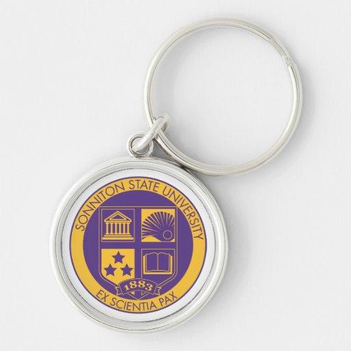 Sonniton State University Seal - Purple/Gold Key Chain