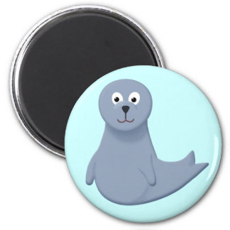 Sonny the Seal Pup 2 Inch Round Magnet