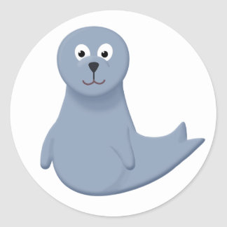 Sonny the Seal Pup Round Sticker