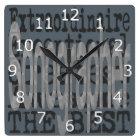 Sonographer Extraordinaire Square Wall Clock