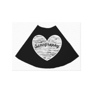 Sonography Heart Canvas Print