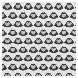 Sonography Heart Cotton Fabric