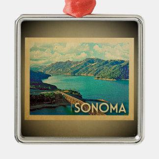 Sonoma California Ornament Vintage Travel