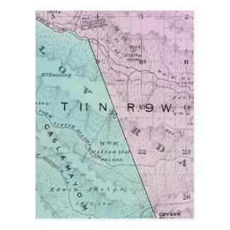Sonoma County, California 6 Postcard