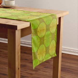 Sonoma Lime Green and Yellow Short Table Runner
