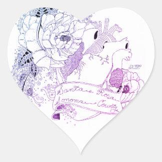 Sonoma Love (Blue Ombré) Heart Sticker