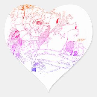 Sonoma Love (Rainbow Ombré) Heart Sticker
