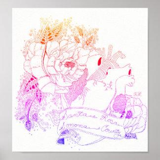 Sonoma Love (Rainbow Ombré) Poster
