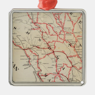 Sonoma, Marin, Lake, and Napa Counties Metal Ornament