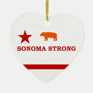Sonoma strong Christmas ornament