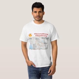 Sonoma Strong, Napa Strong T-shirts