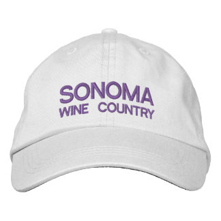Sonoma wine Country Adjustable Hat Embroidered Hat