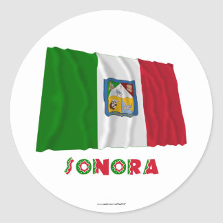 Sonora Waving Unofficial Flag Classic Round Sticker