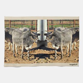 Sonoran Bulls Kitchen Towel