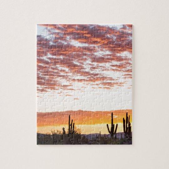 Sonoran Desert Colourful Sunrise Morning Jigsaw Puzzle
