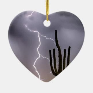 Sonoran Desert Monsoon Storming Ceramic Ornament